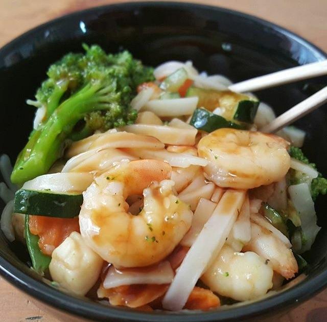 Shirataki Chop Suey mit Scampi Rezept